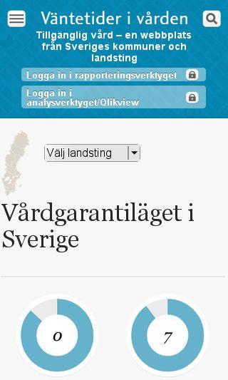 Mobile preview of vantetider.se