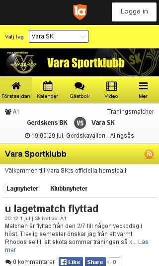 Mobile preview of varask.se