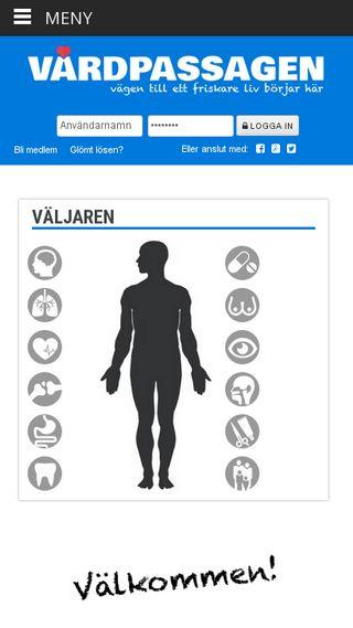 Mobile preview of vardpassagen.se