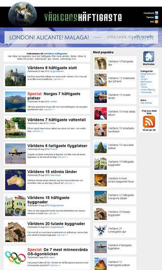 Mobile preview of varldenshaftigaste.se