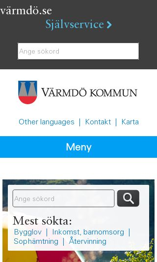 Mobile preview of ostraalvsala.se