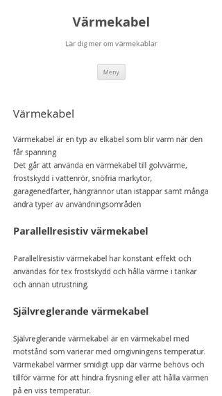 Mobile preview of varmekabel.blog.se