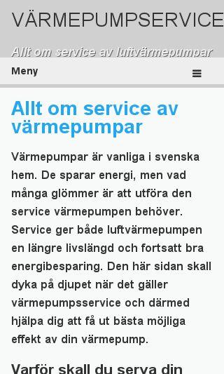 Mobile preview of varmepump-service.se