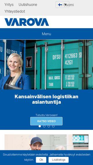 Mobile preview of varova.fi