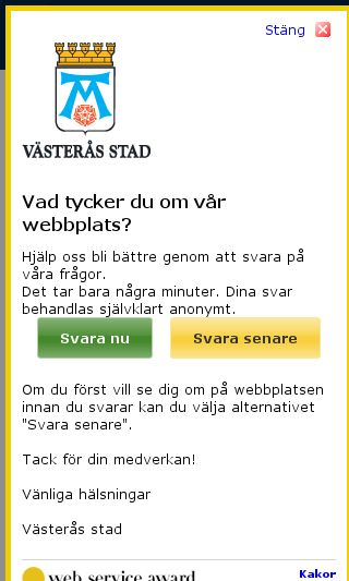 Mobile preview of vasteras.se