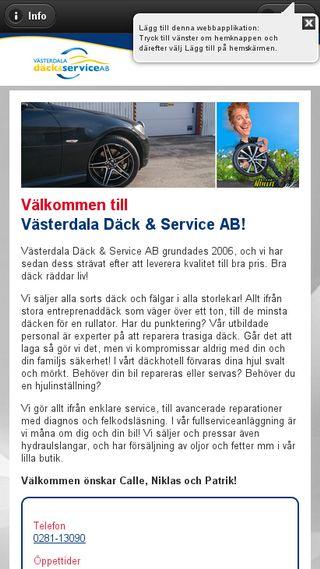 Mobile preview of vasterdalados.se