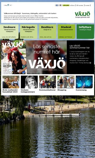 Mobile preview of vaxjo.se