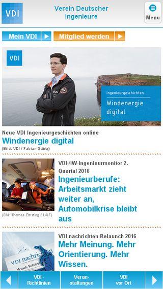 Mobile preview of vdi.de