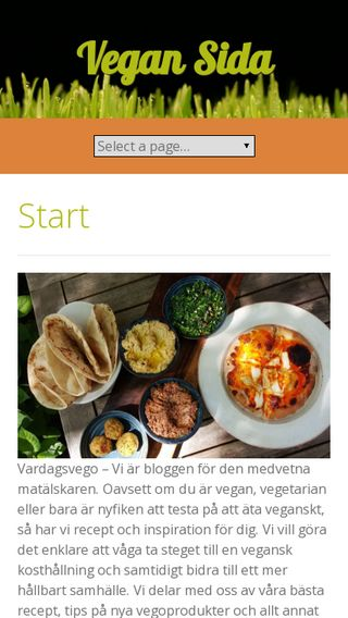 Mobile preview of vegansidan.se