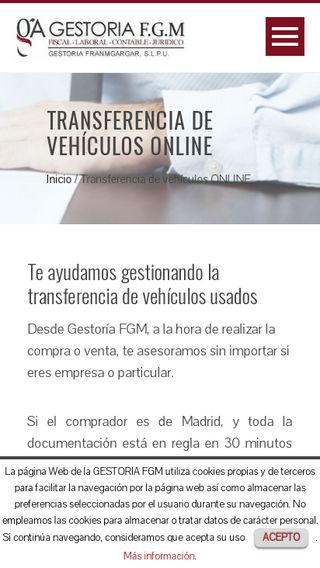 Mobile preview of vehiculos-gestoriafgm.es