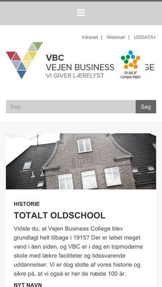 Mobile preview of vejenbc.dk