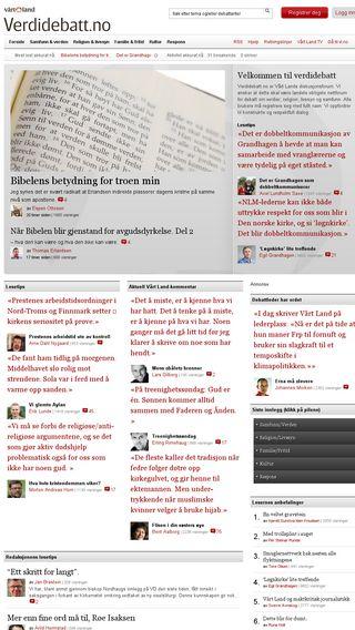 Mobile preview of verdidebatt.no