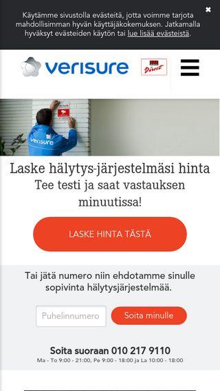 Mobile preview of verisure.fi