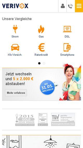 Mobile preview of verivox.de
