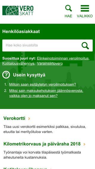 Mobile preview of vero.fi
