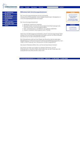 Mobile preview of versicherungsombudsmann.de