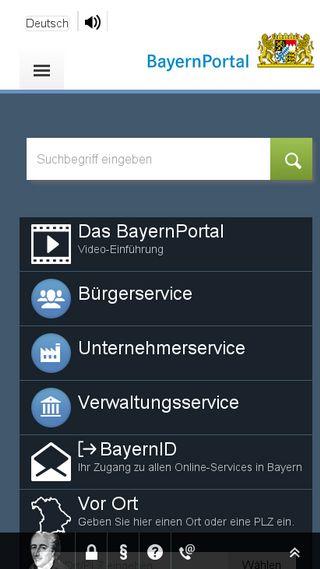 Mobile preview of verwaltungsservice.bayern.de