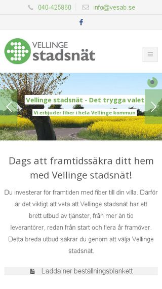 Mobile preview of vesab.se