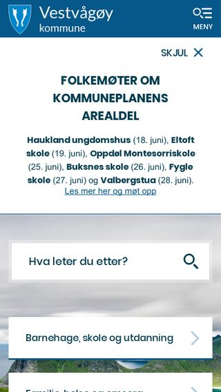 Mobile preview of vestvagoy.kommune.no