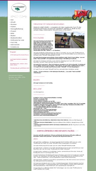 Mobile preview of veterantraktorklubben.nu