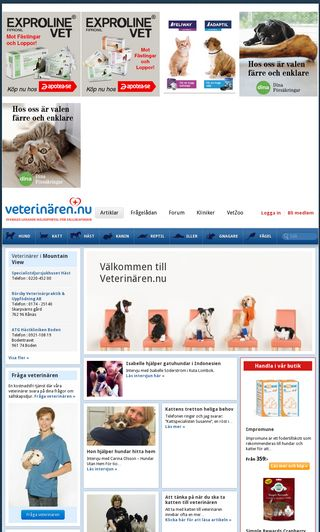 Mobile preview of veterinaren.nu