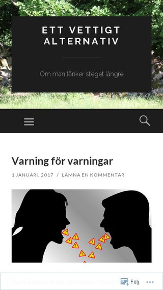 Mobile preview of vettigt.wordpress.com