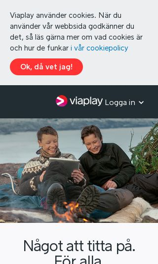 Mobile preview of viaplay.se
