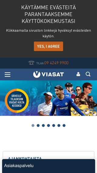 Mobile preview of viasat.fi