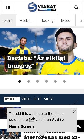 Mobile preview of viasatsport.se