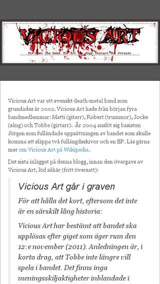 Mobile preview of viciousart.se