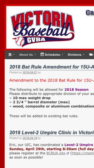 Mobile preview of victoriabaseball.com