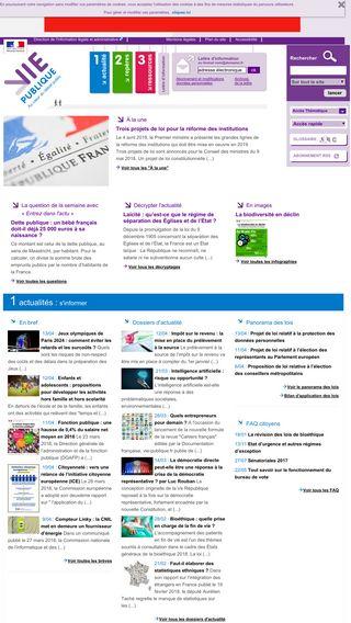 Mobile preview of vie-publique.fr