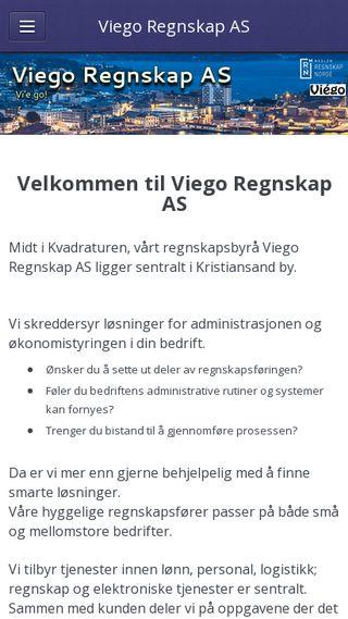 Mobile preview of viego.no