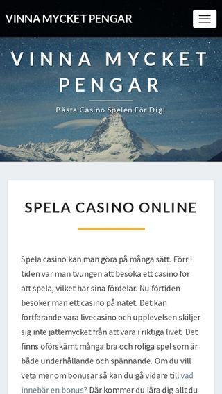 Mobile preview of vinnamycketpengar.se