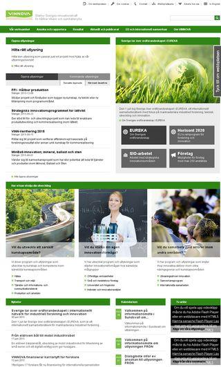 Mobile preview of vinnova.se