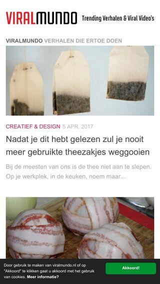 Mobile preview of viralmundo.nl