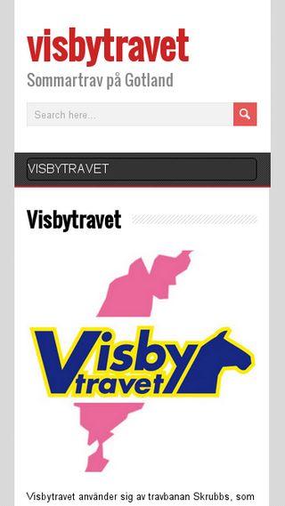 Mobile preview of visbytravet.nu