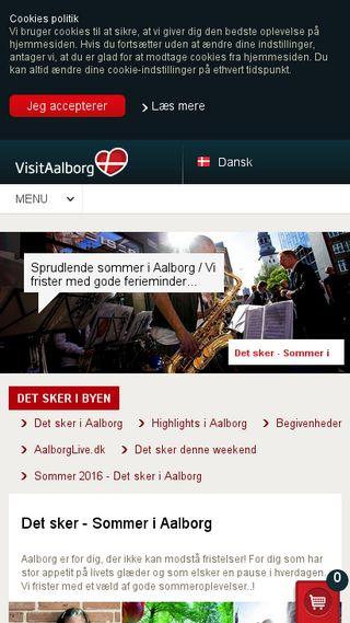 Mobile preview of visitaalborg.de