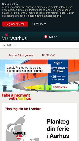 Mobile preview of visitaarhus.dk