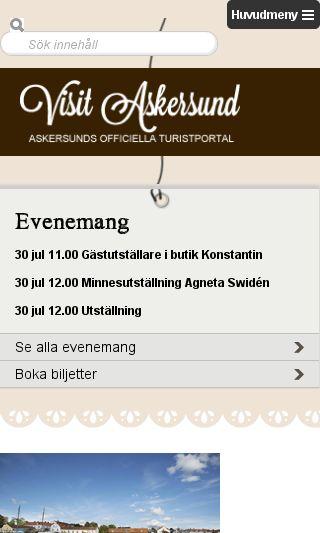 Mobile preview of visitaskersund.se