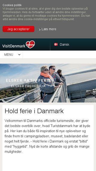 Mobile preview of visitdenmark.dk