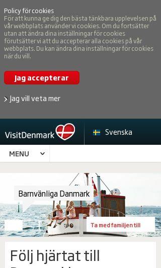 Mobile preview of visitdenmark.se