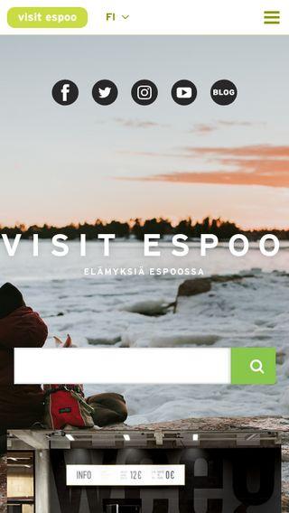 Mobile preview of visitespoo.fi