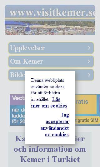Mobile preview of visitkemer.se