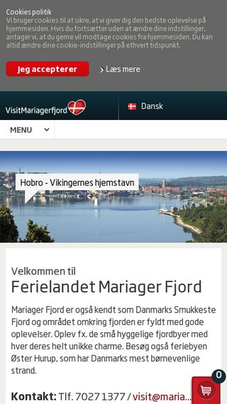 Mobile preview of visitmariagerfjord.dk