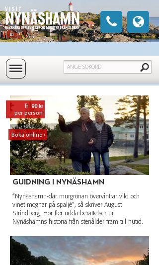 Mobile preview of visitnynashamn.se
