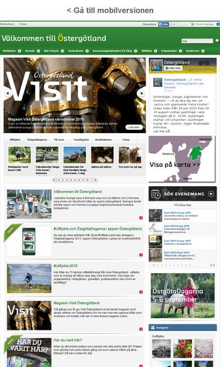 Mobile preview of visitostergotland.se