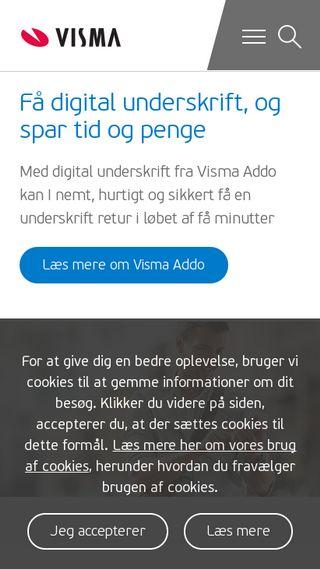 Mobile preview of visma.dk