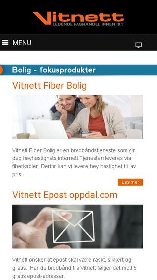 Mobile preview of vitnett.no