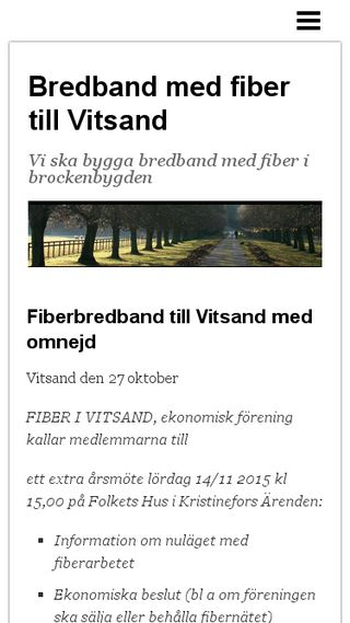 Mobile preview of vitsandsfiber.n.nu